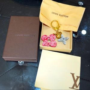 Louis Vuitton Swarovski keychain bag charm
